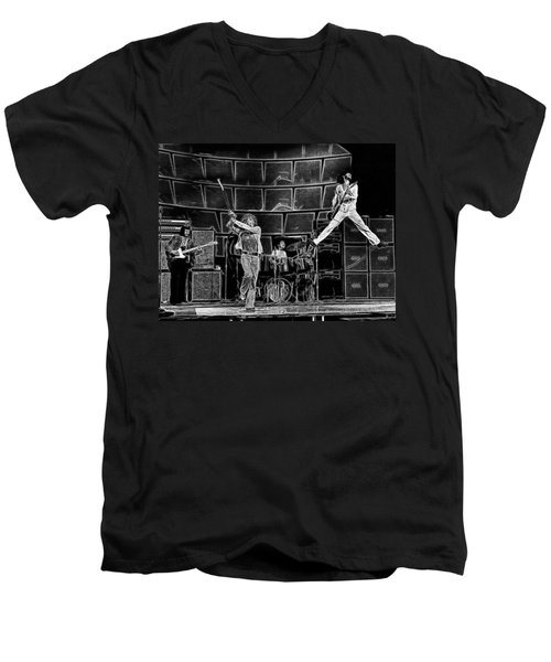 The Who - A Pencil Study - Designed By Doc Braham Men's V-Neck T-Shirt