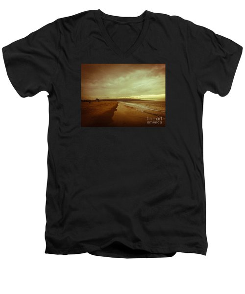 The Winter Pacific Men's V-Neck T-Shirt by Fei A