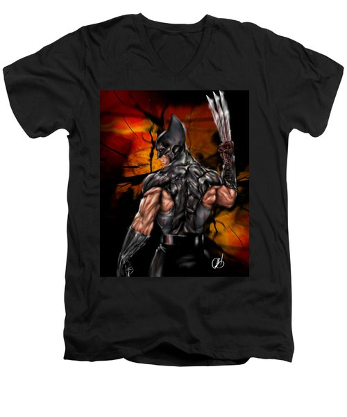 The Wolverine Men's V-Neck T-Shirt