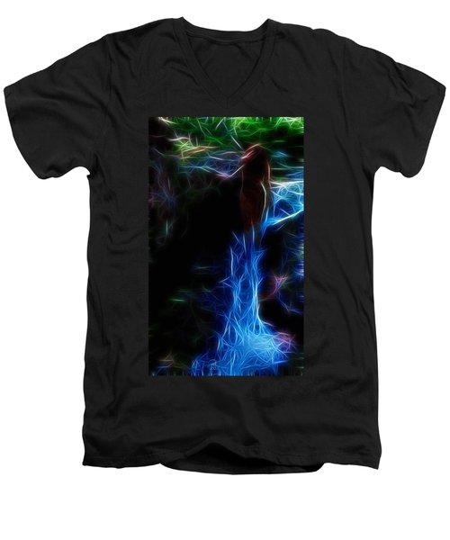 The Woods Are Lovely Dark And Deep Men's V-Neck T-Shirt