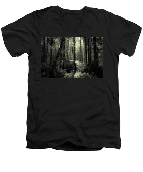 The Woods Men's V-Neck T-Shirt by Katie Wing Vigil