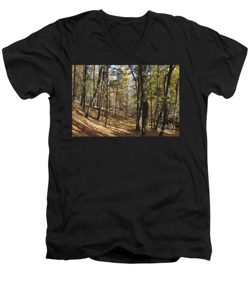 Men's V-Neck T-Shirt featuring the photograph The Woods by William Norton