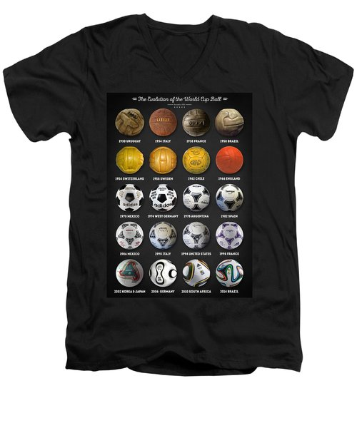 The World Cup Balls Men's V-Neck T-Shirt by Taylan Apukovska