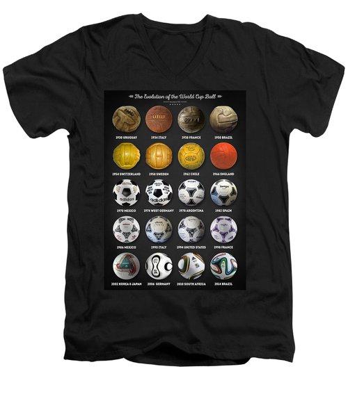 The World Cup Balls Men's V-Neck T-Shirt