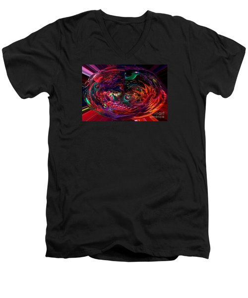Colorful Orb Men's V-Neck T-Shirt