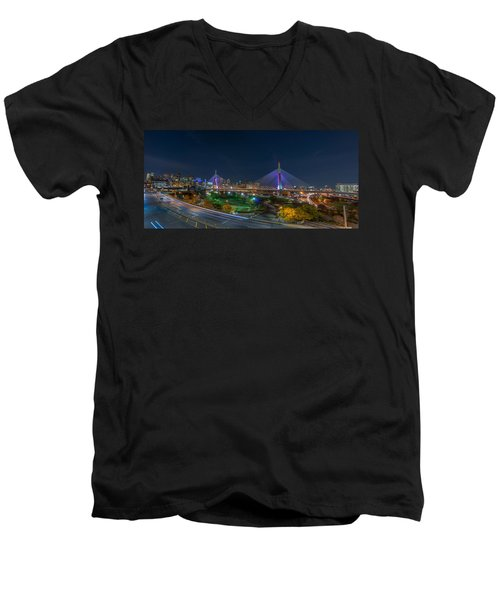 The Zakim Bridge Men's V-Neck T-Shirt
