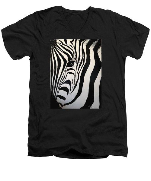The Zebra With One Eye Men's V-Neck T-Shirt