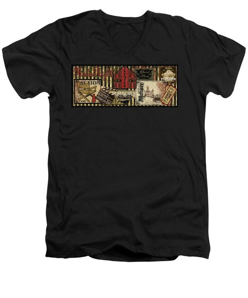 Theater Men's V-Neck T-Shirt by Jean Plout