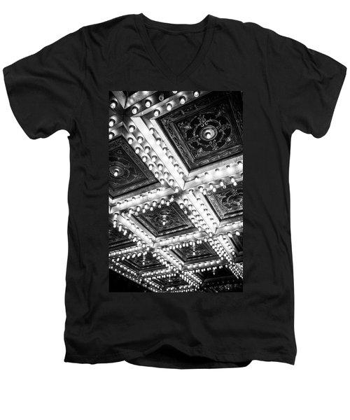 Theater Lights Men's V-Neck T-Shirt by Melinda Ledsome