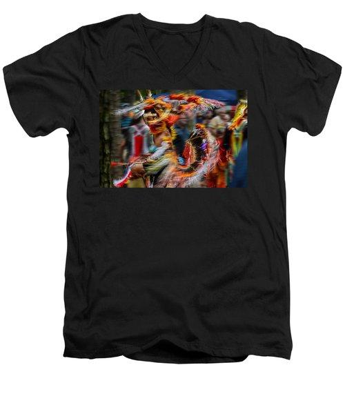 Their Spirit Is Among Us - Nanticoke Powwow Delaware Men's V-Neck T-Shirt