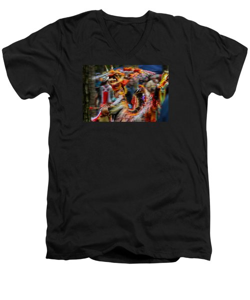 Their Spirit Is Among Us - Nanticoke Powwow Delaware Men's V-Neck T-Shirt