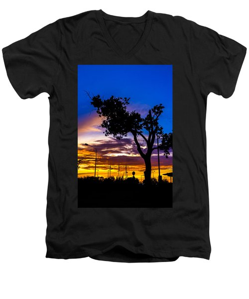 There Is Something Magical About The Sky Men's V-Neck T-Shirt