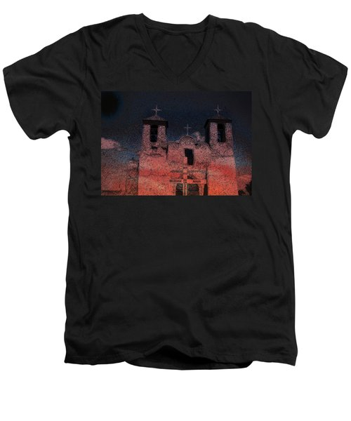 Men's V-Neck T-Shirt featuring the digital art This  by Cathy Anderson