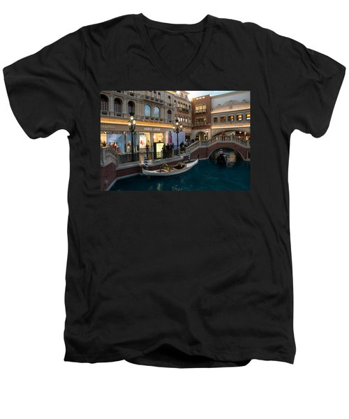 It's Not Venice - The White Wedding Gondola Men's V-Neck T-Shirt