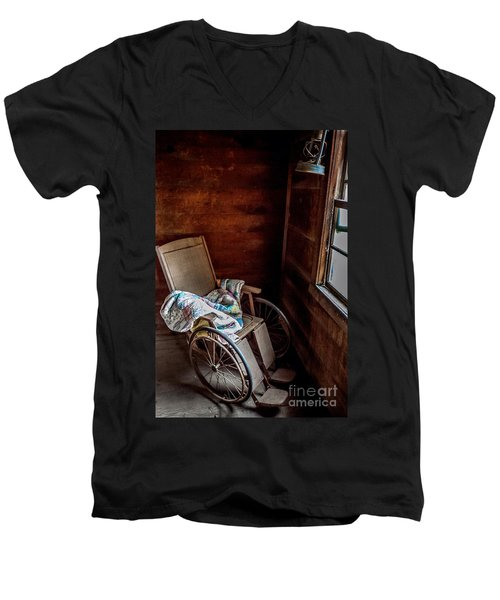 Wheelchair With A View Men's V-Neck T-Shirt