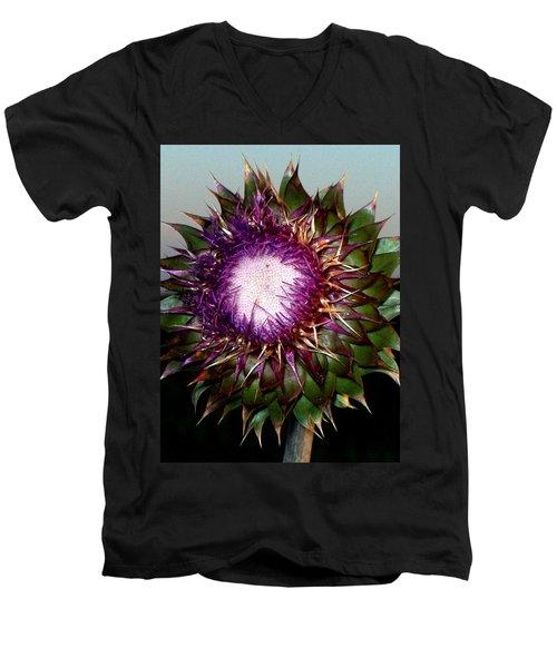 Thistle Night Men's V-Neck T-Shirt