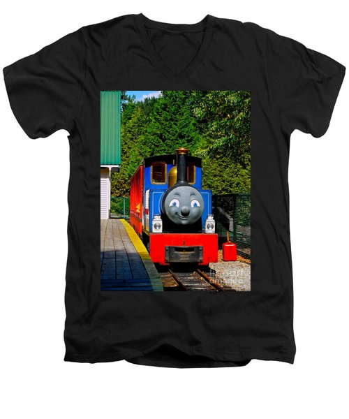 Men's V-Neck T-Shirt featuring the photograph Thomas by Sher Nasser