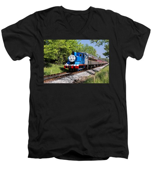Thomas Visits The Cvnp Men's V-Neck T-Shirt