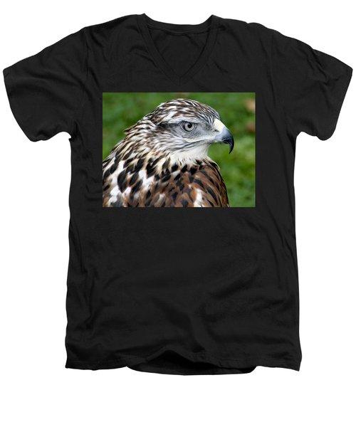 The Threat Of A Predator Hawk Men's V-Neck T-Shirt