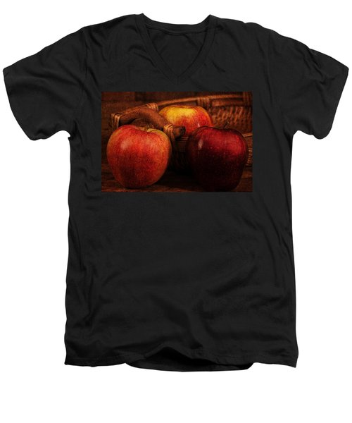 Three Apples Men's V-Neck T-Shirt