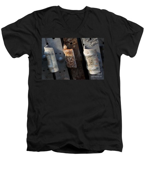 Three Shades Of Rust Men's V-Neck T-Shirt