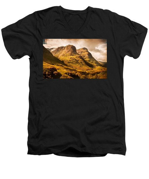 Three Sisters. Glencoe. Scotland Men's V-Neck T-Shirt