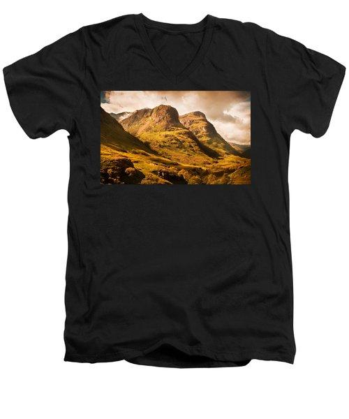 Three Sisters. Glencoe. Scotland Men's V-Neck T-Shirt