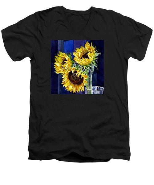 Three Sunny Flowers Men's V-Neck T-Shirt