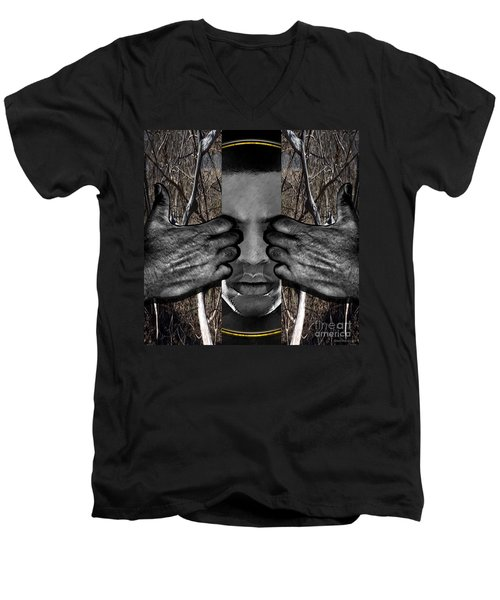 Through The Circle Of Life Men's V-Neck T-Shirt