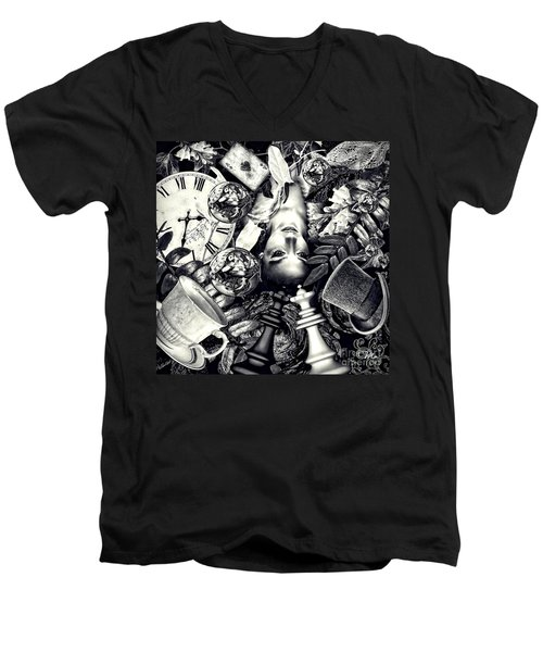 Through The Looking-glass Men's V-Neck T-Shirt