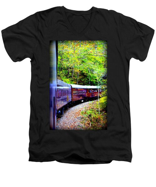 Through The Mountains Men's V-Neck T-Shirt