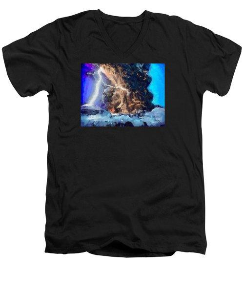 Thunder Struck Men's V-Neck T-Shirt