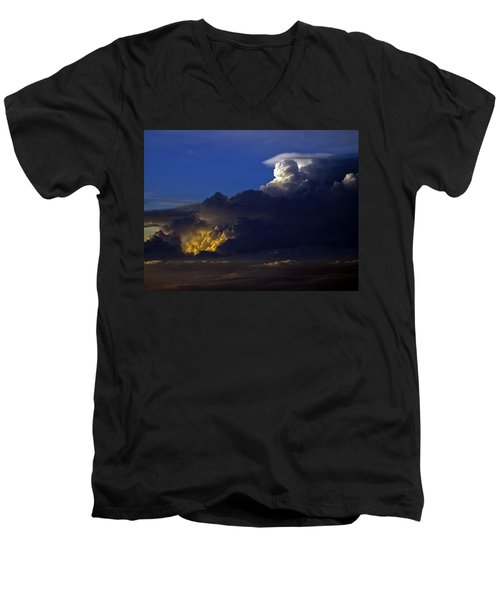 Men's V-Neck T-Shirt featuring the photograph Thunderstorm II by Greg Reed
