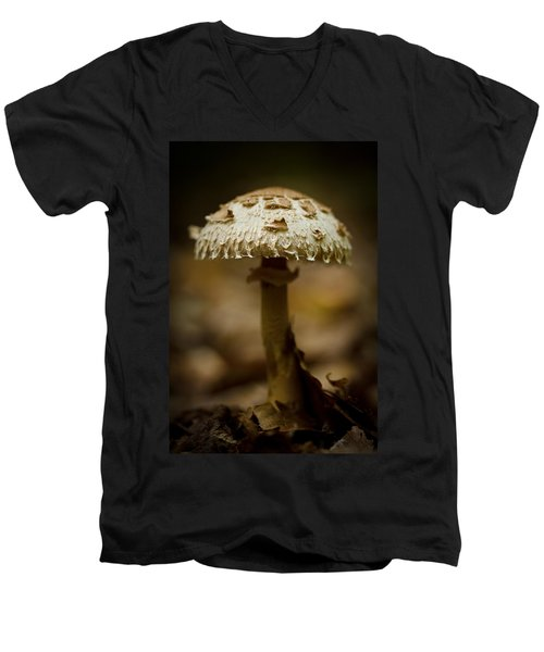 Tiffany Shroom Men's V-Neck T-Shirt by Shane Holsclaw