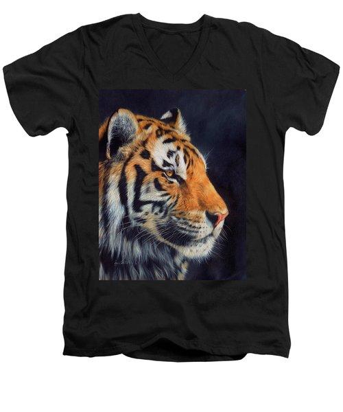 Tiger Profile Men's V-Neck T-Shirt