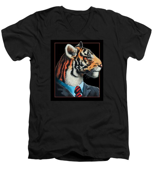 Tigerman Men's V-Neck T-Shirt