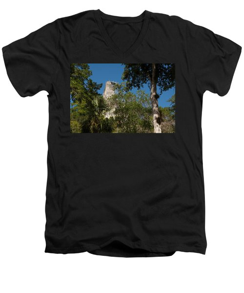 Tikal Pyramid 4a Men's V-Neck T-Shirt