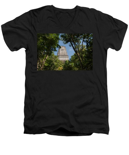 Tikal Pyramid 4b Men's V-Neck T-Shirt