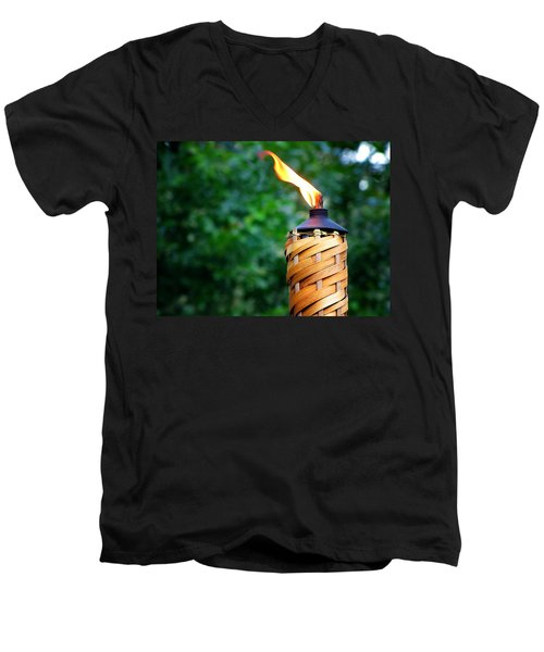 Men's V-Neck T-Shirt featuring the photograph Tiki Time by Greg Simmons