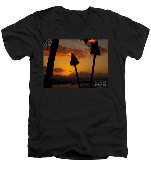 Tiki Time In Maui Men's V-Neck T-Shirt