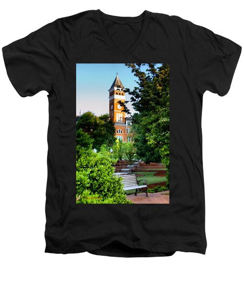 Tillman Hall Early Morning Men's V-Neck T-Shirt