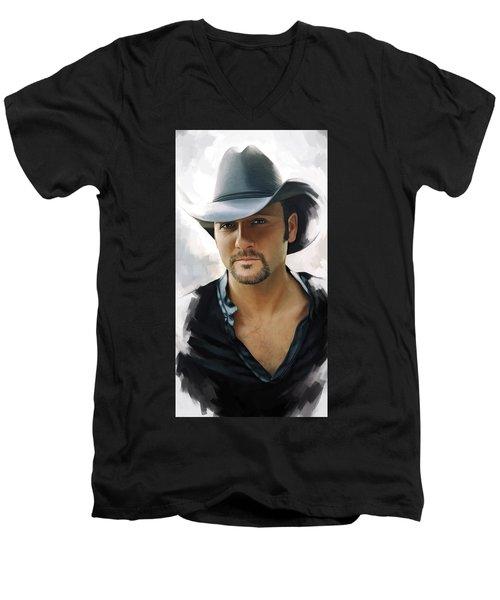 Tim Mcgraw Artwork Men's V-Neck T-Shirt