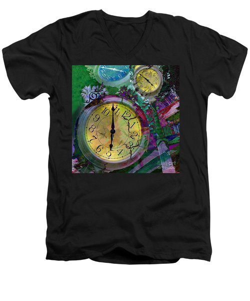Time Men's V-Neck T-Shirt