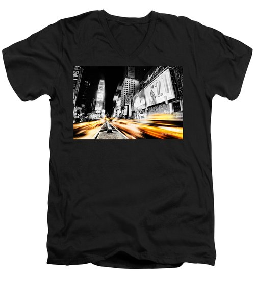 Time Lapse Square Men's V-Neck T-Shirt by Andrew Paranavitana