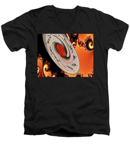 Time Saucer Men's V-Neck T-Shirt