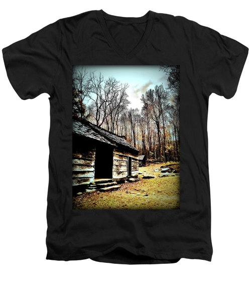 Men's V-Neck T-Shirt featuring the photograph Time Standing Still by Faith Williams