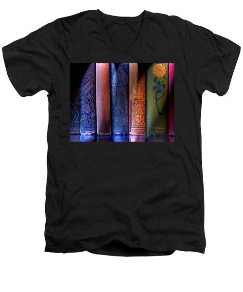 Time Worn Men's V-Neck T-Shirt by Michael Eingle