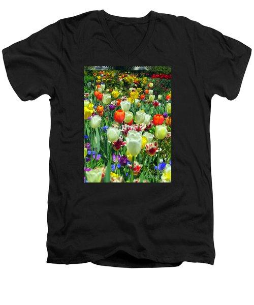 Tiptoe Through The Tulips Men's V-Neck T-Shirt