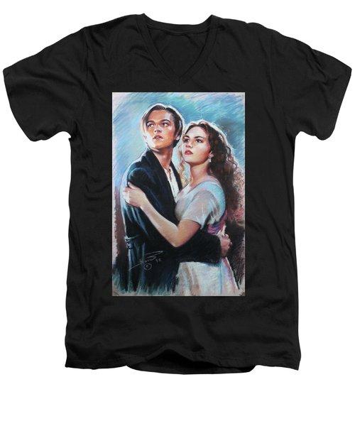 Titanic Jack And Rose Men's V-Neck T-Shirt