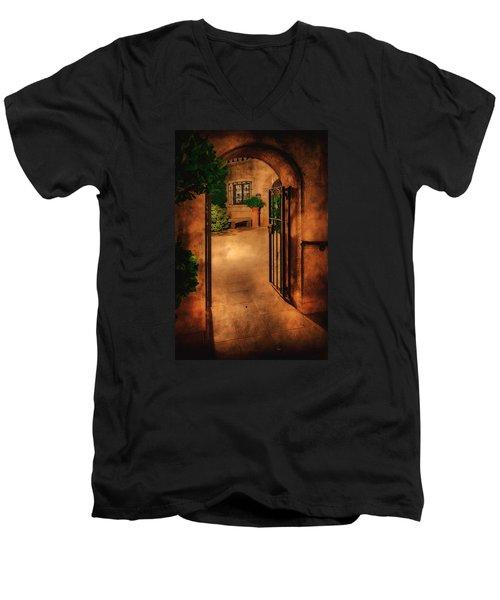 Tlaquepaque Men's V-Neck T-Shirt by Priscilla Burgers
